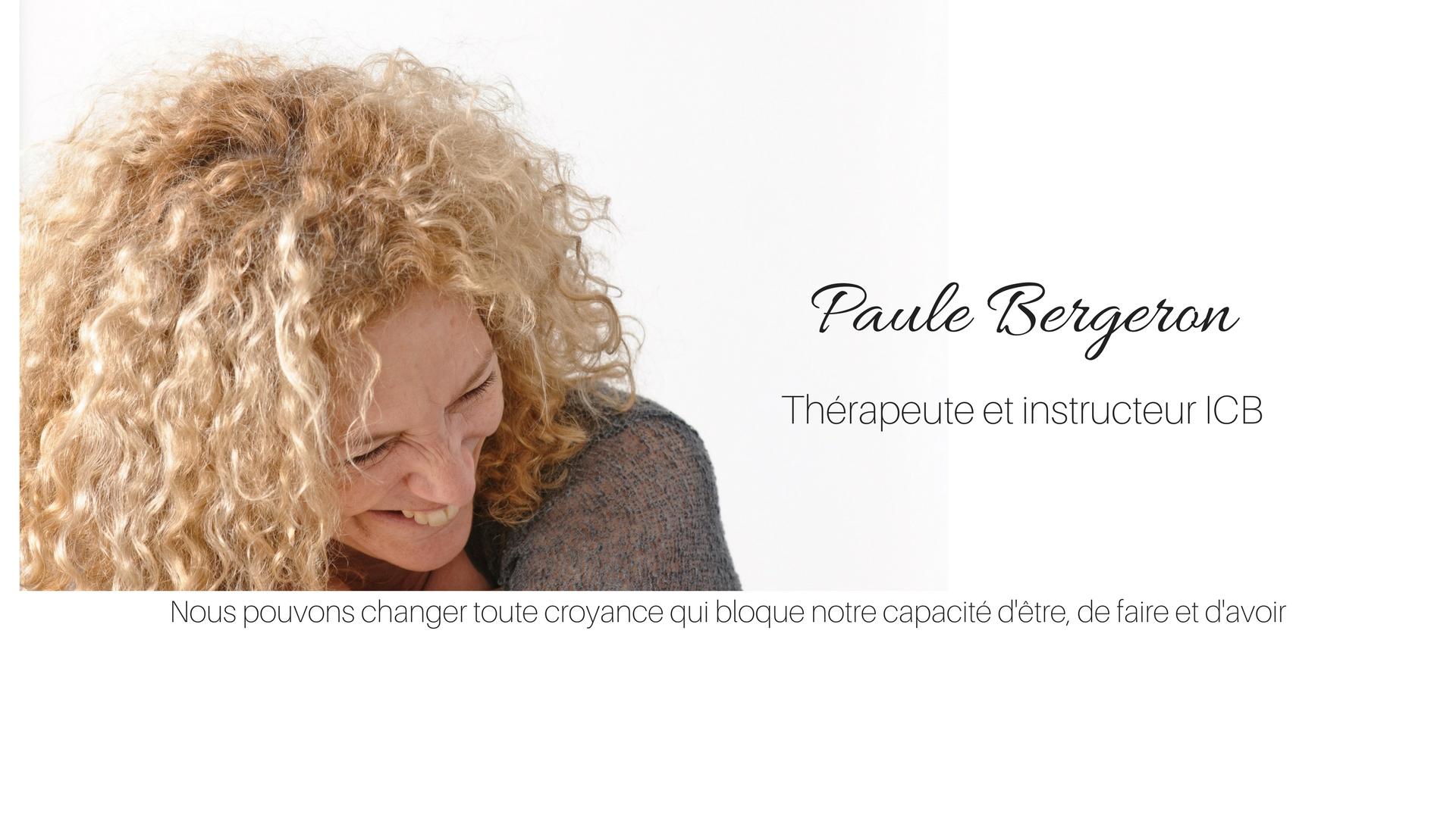 Paule Bergeron - thérapeute praticienne ICB
